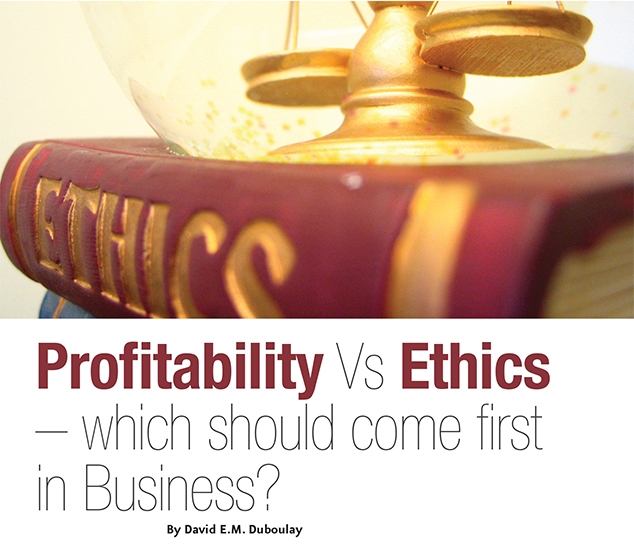 profitability morality A fruitful definition of ethics is supplied by (crane and matten, 2010: p 8) who define it as being ' concerned with the study of morality and the application of reason to elucidate specific rules and principles that determine right and wrong for a given situation.